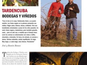 Tardencuba autor en vinos y restaurantes