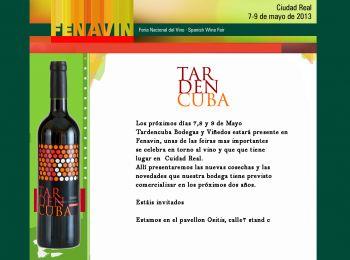 Tardencuba estará presente en Fenavin